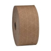 Reinforced Kraft tape is a paper tape with a water-activated adhesive that creates a permanent, tamper-evident bond when used as a carton sealant. Layers of reinforced Kraft paper ensure the strength of the tape and seal.