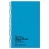 3 Subject Wirebound Notebook, College Rule, 9 1/2 X 6, White, 150 Sheets