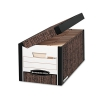Systematic Medium-duty Storage Boxes, Letter/legal, Woodgrain, 12/ct