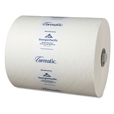 Hardwound Roll Towels, 8 1/4 X 700ft, White, 6 Rolls/carton
