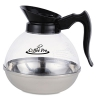Unbreakable Regular Coffee Decanter, 12-cup, Stainless Steel/polycarbonate