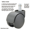 Safety Casters, Oversize Neck, Polyurethane, K Stem, 110 Lbs./caster, 5/set