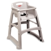 Sturdy Chair Youth Seat, Wheels, Plastic, 23 3/8w X 23 1/2d X 29 3/4h, Platinum