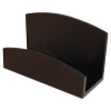 Eco-friendly Bamboo Curves Business Card Holder, Capacity 50 Cards, Espresso