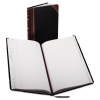 Record/account Book, Black/red Cover, 150 Pages, 14 1/8 X 8 5/8