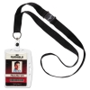 Id/security Card Holder Set, Vertical/horizontal, Lanyard, Clear, 10/pack