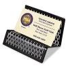 Urban Collection Punched Metal Business Card Holder, Holds 50 2 X 3 1/2, Black