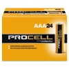 Procell Alkaline Batteries, Aaa, 24/box