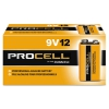 Procell Alkaline Batteries, 9v, 12/box