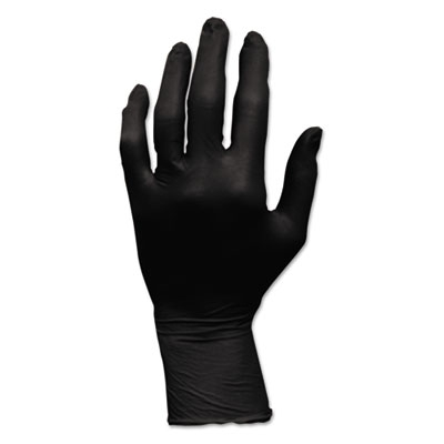 Proworks Grizzlynite Nitrile Gloves, Powder-free, Large, Black, 100/carton
