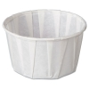 Squat Paper Portion Cup, Pleated, 3.25 Oz, White, 250/bag, 20 Bags/carton