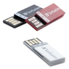Clip-it Usb 2.0 Flash Drive, 8gb, Black/red/white, 3/pack