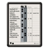 Employee In/out Board, Porcelain, 11 X 14, Gray, Black Plastic Frame