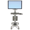 Neo-flex Wideview Workspace, Single Monitor Display, Gray