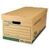 "Recycled Record Storage Box, Letter/legal, 12"" X 24"" X 10"", Kraft, 12/carton"