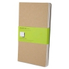 Cahier Journal, Plain, 8 1/4 X 5, Kraft Brown Cover, 80 Sheets