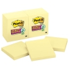 Canary Yellow Note Pads, 3 X 3, 90-sheet, 12/pack