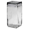 Stackable Glass Storage Jars, 2 Qt, Glass