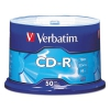 Cd-r Discs, 700mb/80min, 52x, Spindle, Silver, 50/pack
