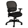 Vl712 Series Mid-back Swivel/tilt Work Chair, Black Mesh