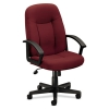 Vl601 Series Executive High-back Swivel/tilt Chair, Burgundy Fabric/black Frame