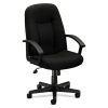 Vl601 Series Executive High-back Swivel/tilt Chair, Black Fabric & Frame