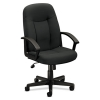 Vl601 Series Executive High-back Swivel/tilt Chair, Charcoal Fabric/black Frame