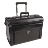 Bond Street Collection Catalog Case On Wheels, Leather, 19 X 9 X 15-1/2, Black
