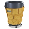 Bronco Waste Container Caddy Bag, 19 3/4 X 31, Yellow, 12/carton