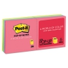 Original Pop-up Refill, 3 X 3, Assorted Cape Town Colors, 100-sheet, 6/pack