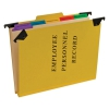 Personnel Folders, 1/3 Cut Hanging Top Tab, Letter, Yellow
