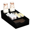 Condiment Tray, 8 1/4 X 16 X 5 1/8, 7-compartment, Black