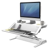 Lotus Sit-stand Workstation, 32 3/4 X 24 1/4 X 5 1/2 To 22 1/2, White
