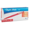 Point Guard Flair Needle Tip Stick Pen, Red Ink, 0.7mm, Dozen