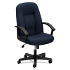Vl601 Series Executive High-back Swivel/tilt Chair, Navy Fabric/black Frame