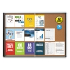 Enclosed Indoor Cork Bulletin Board W/sliding Glass Doors, 56 X 39, Silver Frame