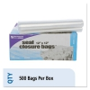 Zip-seal Closure Bags, Clear, 12 X 12, 500/carton