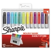 Permanent Markers With Storage Case, Ultra Fine, Assorted, Original, 12/pack