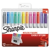 Permanent Markers With Storage Case, Ultra Fine, Assorted, Vibrant, 12/pack