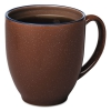 Bistro Mugs, 15 Oz, Chocolate, Ceramic, 6 Per Box