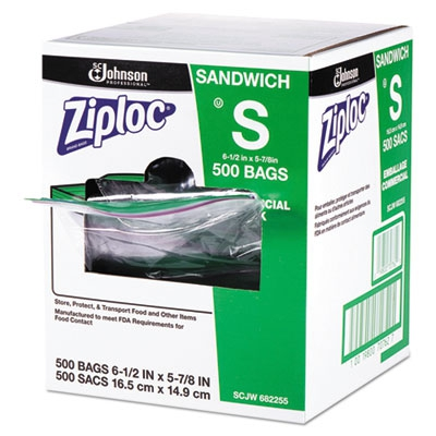 Resealable Sandwich Bags, 1.2mil, 6 1/2 X 6, Clear, 500/box