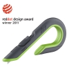 Box Cutters, Double Sided, Replaceable, Stainless Steel, Gray, Green