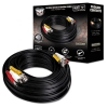 In-wall Rated Video/power/audio Extension Cable With Extension Adapter, 100 Ft