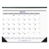 Net Zero Carbon Monthly Desk Pad Calendar, 22 X 17, Black Band And Corners, 2018