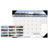 Recycled Mountains Of The World Photo Monthly Desk Pad Calendar, 22 X 17, 2018