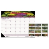 Recycled Gardens Of The World Photo Monthly Desk Pad Calendar, 22 X 17, 2018