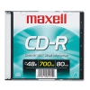 Cd-r Disc, 700mb/80min, 48x, W/slim Jewel Case, Silver