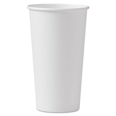 Solo 420w-2050 20 Oz. White Paper Hot Cup Nohandle Singlepoly (600-pack)