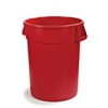 "Carlisle 34103205 Bronco Polyethylene Round Trash Container 32 Gallon Capacity 22.38"" Diameter X 27-3/4"" Height Red (case Of 4)"