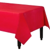 "54 X 108"" Plastic Table Cover Apple Red 12/case 72/master Case"